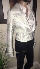 Stills ~ Winter White & Pale Grey Cropped Jacket  EU40 UK10