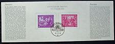 ALLEMAGNE RDA - timbre YT n°1 et 2 obl sur document - stamp Germany (cyn4)