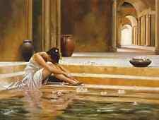 STAMPA SU TELA CANVAS ROMANTICA DONNA RON DI SCENZA THE HEALING WATER 85X110