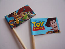 20 CUPCAKE FLAGS/TOPPERS - TOY STORY CHILDRENS BIRTHDAY PARTY
