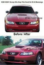 Mustang GT Hood Scoop 99,00,01,02,03,04 Fits V6 V8 By MRHoodScoop PAINTED HS001