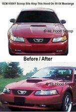Mustang GT Hood Scoop 99,00,01,02,03,04 Fits V6 V8 By MRHoodScoop PAINTED HS001