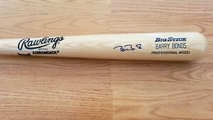 BARRY BONDS Autographed Rawlings Baseball Bat
