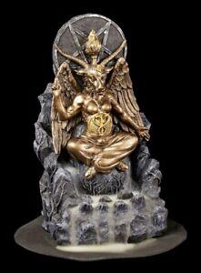 Backflow Räucherkegelhalter - Baphomet Figur Teufel Satan Altar Statue