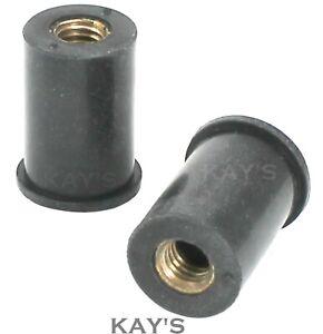 RUBBER WELL NUTS RIVET RUB NUT CAVITY WALL FAIRING FIXINGS M4 M5 M6 M8 M10 M12