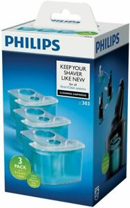 Philips SmartClean Cleaning Cartridge 3 Pack for Shavers JC303/50 Lubricating