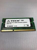 A-Tech Laptop Memory Module, 4GB DDR3 SDRAM PC3-10600, 204-Pin SODIMM 1333-MHz