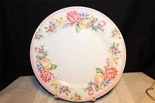 CHINA PEARL JUBILEE PATTERN 3855 DINNER PLATE PINK BAND MULTICOLOR PASTEL FLORAL