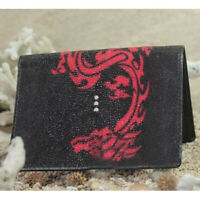 Wallet Stingray combine Cobra skin Leather Genuine Bifold Men Wallet fathers day gift