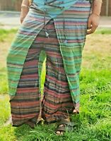 Limited Edition Ladies Hippie Indian Boho Party Tie N Dye Palazzo Trousers