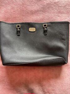 MICHAEL KORS Beautiful Vintage Style Black Shoulder Bag Large Authentic