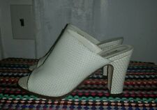 American Apparel Gemini Mules, white leather, size 9