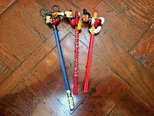 New listing Set of 3 Vintage Disney Mickey Mouse Pencils and Pencil Toppers