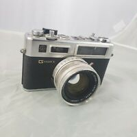 VTG Yashica G Electro GSN 35mm Rangefinder Film Camera Yashinon 45mm Lens AS IS