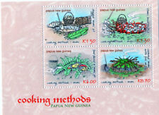 Papua New Guinea 2013 - Cooking Methods / Dishes Sheet of 4 Stamps Mnh