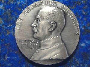 Médaille Argent Maréchal Foch Oeuvre Orphelinat - G. Prudhomme 63g Non attribuée