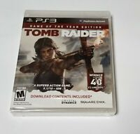 Tomb Raider -- Game of the Year Edition (Sony PlayStation 3, 2014) new ps3