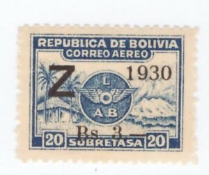 Bolivia,Scott#C25,3 on 20c,MNH,Scott=$80