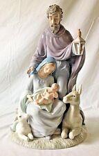 "Large Porcelain Holy Family Statue Figurine Mary Joseph Jesus Members Mark 14.5"""