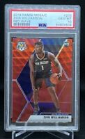 2019-20 Mosaic T-Mall Red Wave Zion Williamson #209 RC Rookie NBA PSA 10🔥🔥🔥
