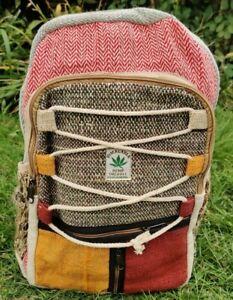 Hemp Bagpack  colorful string trendy Handmade organic sustainable bag