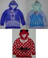 Disney Girls Full Zip Hoodie Sofia, Frozen, Minnie Choose Size -D