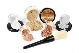 6pc STARTER KIT Mineral Makeup Set Bare Skin Matte Foundation Sheer Powder Cover