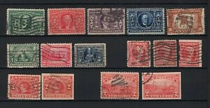 US 1904-1909 complete used incl imperfs