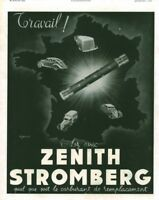 Publicité ancienne automobile Zénith Stromberg 1941 issue de magazine Aljanvic