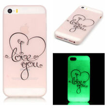 Clear Luminous Glow in the Dark Love You Back Soft Case Cover for iPhone 5 5S SE