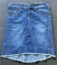 Women Hydraulic Gap H&M Floral Flower Denim Blue Black White Jean Skirt Size 2 4