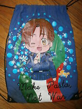 HETALIA AXIS POWERS ITALY DRAWSTRING BAG Tote Book Messenger MAKE PASTA NOT WAR