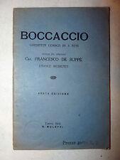 Libretto Teatro Opera Comica - Francesco De Suppè: Boccaccio 1910 Muletti Torino