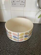 **RARE** Orla Kiely Ceramic Large Multi Stem Fruit/Salad Bowl Used As Display