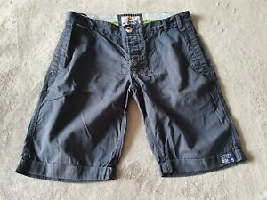 MENS NAVY BLUE SUPERDRY LIMITED EDITION CHINO SHORTS - SIZE XL