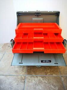 Vintage Flambeau Tool/Tackle 3 Tray Box #22030 Flaws