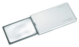 Eschenbach EasyPocket XL152211 LED 'Pop'Up' Silver 2.5x Compact Pocket Magnifier