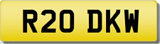 DKW INITIALS PRIVATE CHERISHED Registration Number Plate #TRANSFER FEES INC.#
