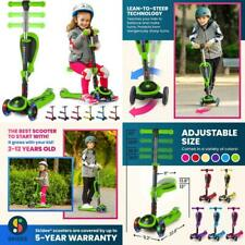 Scooter For Kids With Foldable Removable Seat Adjustable Height 3 Led Light Whee