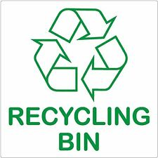 Recycling Bin Sign 87x87mm Self-adhesive Sticker Recycle Logo Environment Label