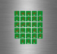 Set of sticker alphabet letter arabic learning language reward children r25