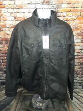 William Rast Faux Leather Black Jacket XXL Justin Timberlake XXL 2XL