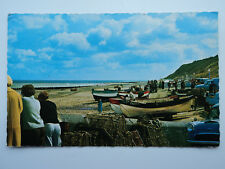 Constance colour PC Cromer, Crab Pots & Boats East Beach. Norfolk. Posted 1978.