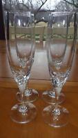 Wedding toasting Flutes Champagne Stems Glasses 4 5 oz elegant thick stem