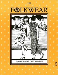 Folkwear 122 Hong Kong Cheongsam Dress Traditional Costume Sewing Pattern