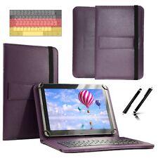 """Tastatur Case Hülle für Samsung Galaxy Tab 2 P5110 Tablet Keyboard 10.1"""" Lila"""