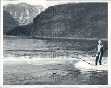 1938 Jack Burrud Aquaplane Champ Colorado River Grand Canyon Press Photo