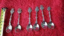set of 6 vintage  demitasse dutch coffee spoons. some marks