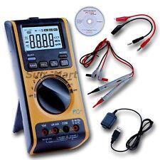 Digital Multimeter Voltmeter Thermometer Ohm USB PC Computer Upload Data Logger