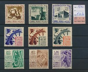 LO44954 Mexico 1940 airmail stamps fine lot MNH cv 31,8 EUR
